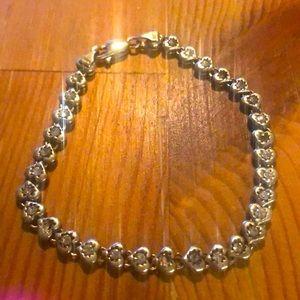 925 Silver Heart Bracelet